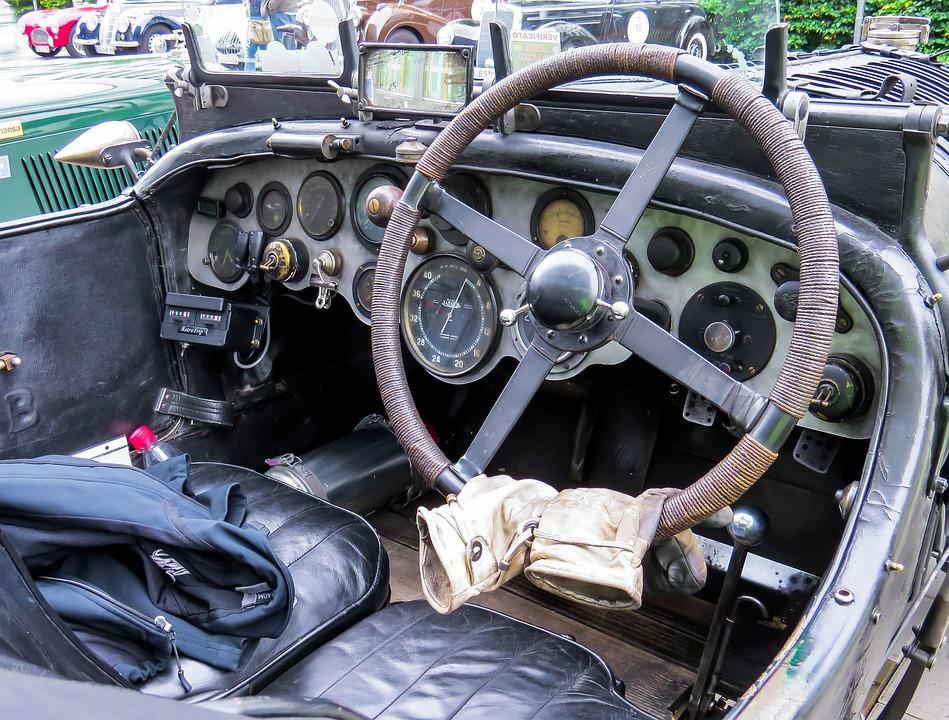 Kostenloses Foto: Oldtimer, Lenkrad, Automobil - Kostenloses Bild ... | {Armaturenbrett oldtimer 64}