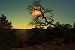 landscape, moon, night
