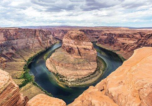 Horseshoe Bend, Arizona, Rocks, Natural