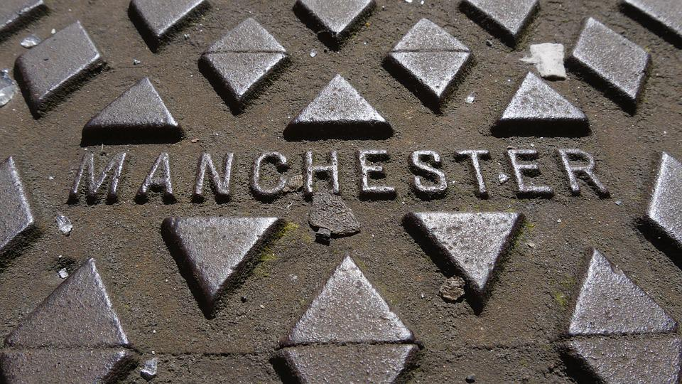 Manchester, Manhole Cover, Metal, Strong, Drain