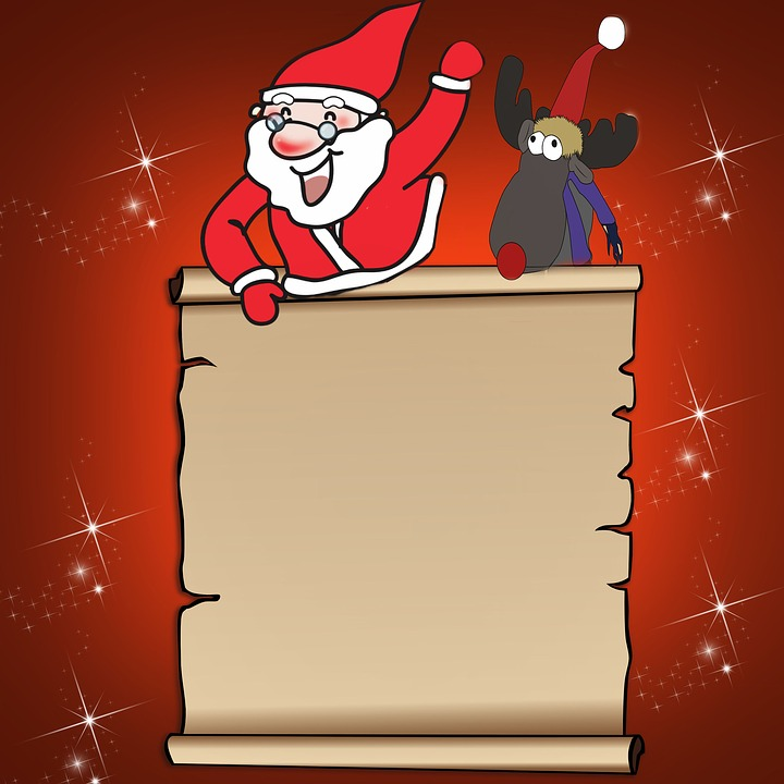 wish list santa claus reindeer free image on pixabay