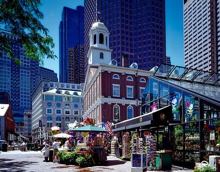 Boston Massachusetts Faneuil Hall Landmark