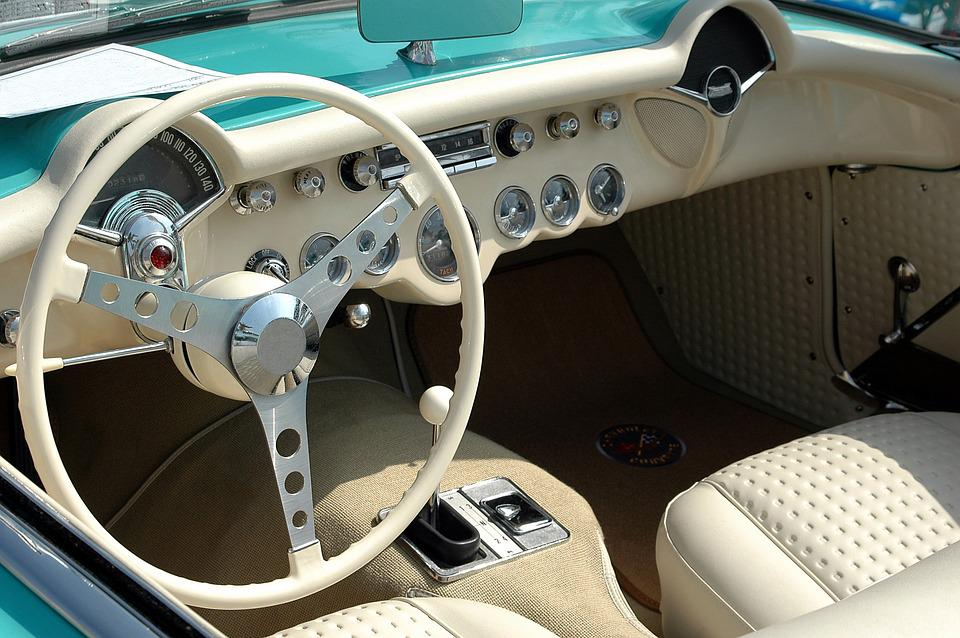Wonderful Vintage Car Interior Design Classic Style Awesome Design