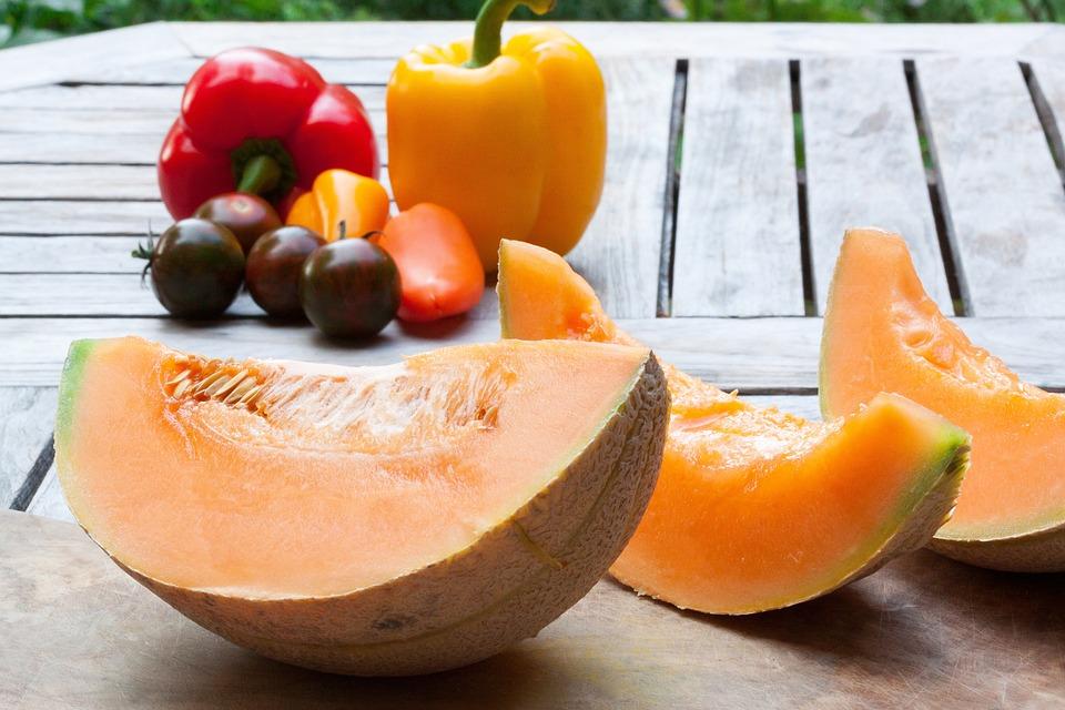 Melone, Disco, Coltello, Ceramica, Pomodoro, Paprika