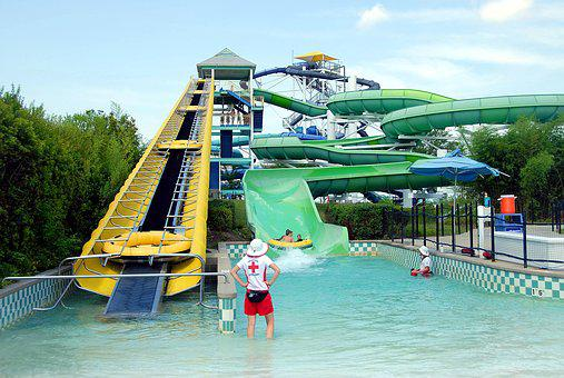 Water Park, Theme Park, People, Water