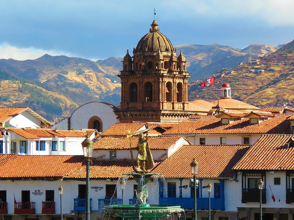 Cusco, Paisagem, Cidade, Telhados