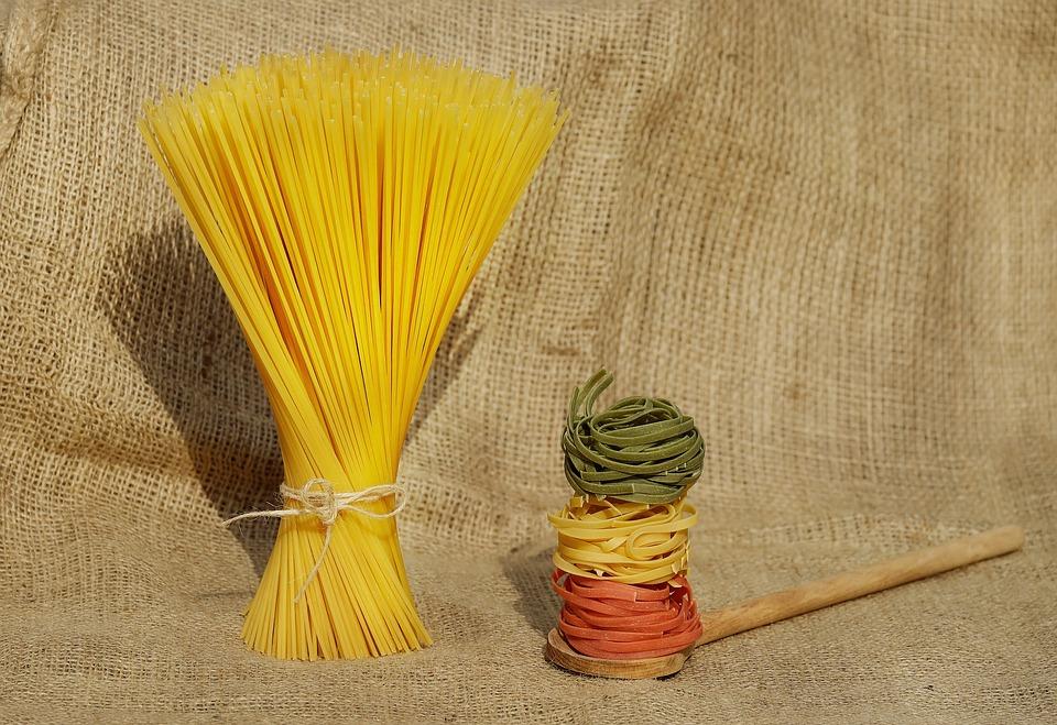 Noodles, Spaghetti, Pasta, Colorful, Raw, Food