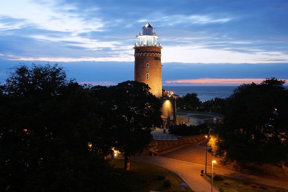 Latarnia Morska, Kołobrzeg, Morze Bałtyckie, Morze
