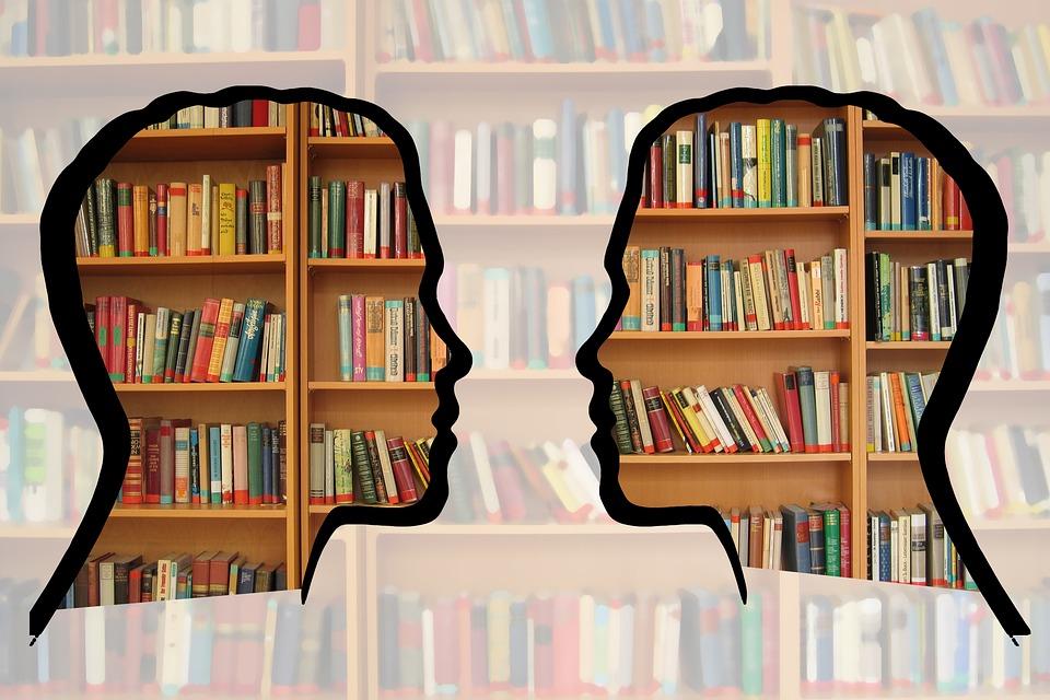 Silhouette, Head, Bookshelf, Know