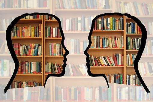 Silhouette Head Bookshelf Knowledge