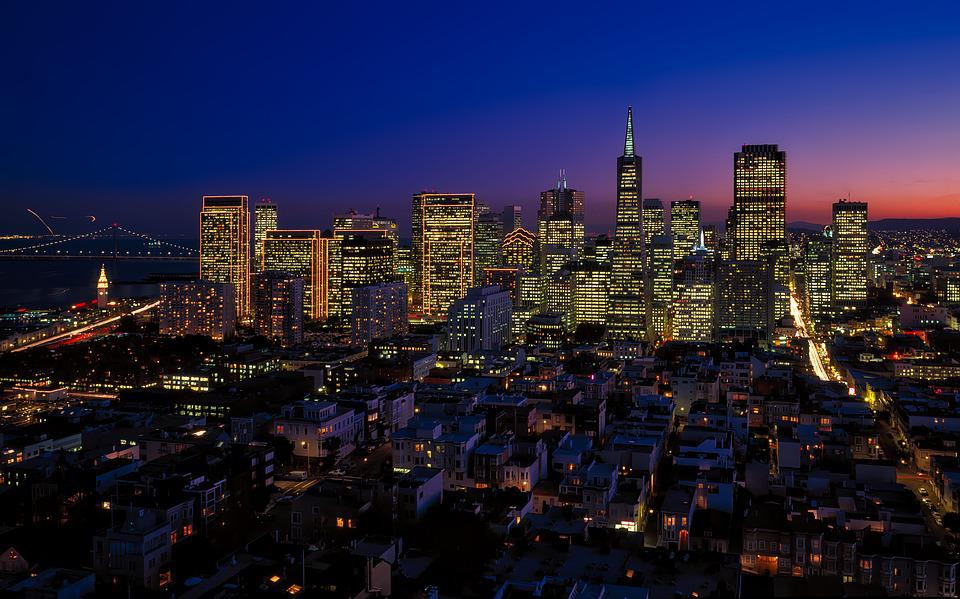 San Francisco, Transamerica Pyramid, California, City