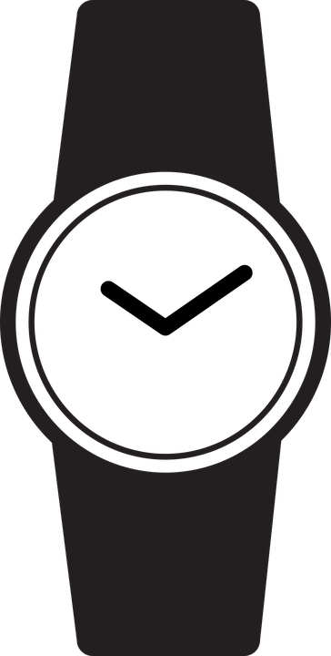 watch icon wrist free vector graphic on pixabay rh pixabay com digital watch clipart watch clipart gif