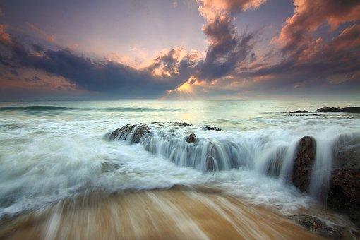 Sunrise, Dramatic Sky, Seascape