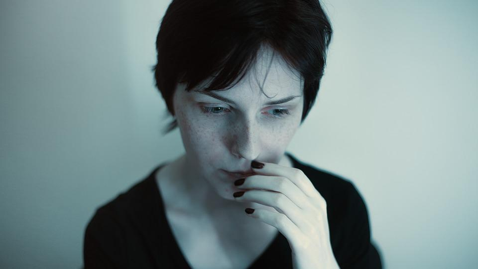 Portrait, Grim, Girl, Blue, Dark, Album, Gloominess