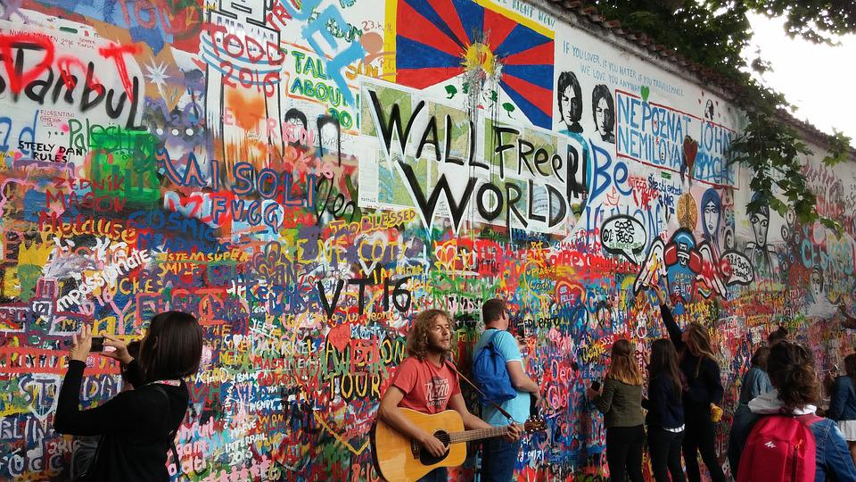 Graffiti, Popular Culture, Lennon Wall, Prague, Culture