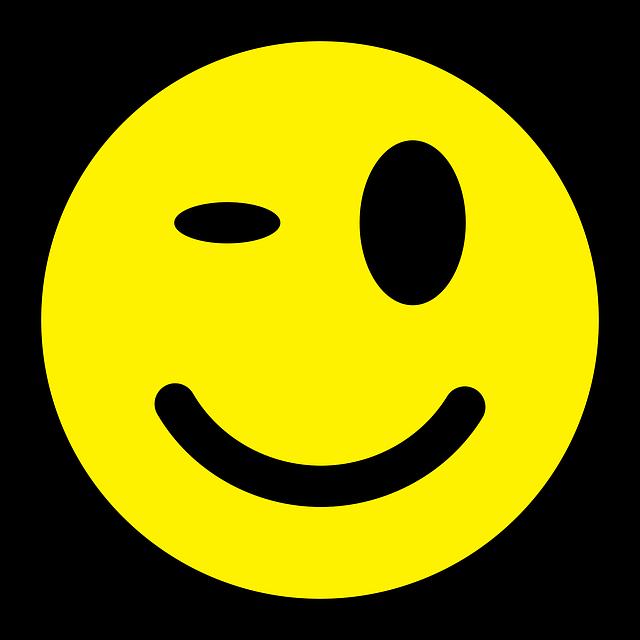 Image vectorielle gratuite: Smiley, Clin D'Oeil, Émoticône ...