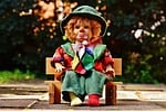 doll, clown, sad