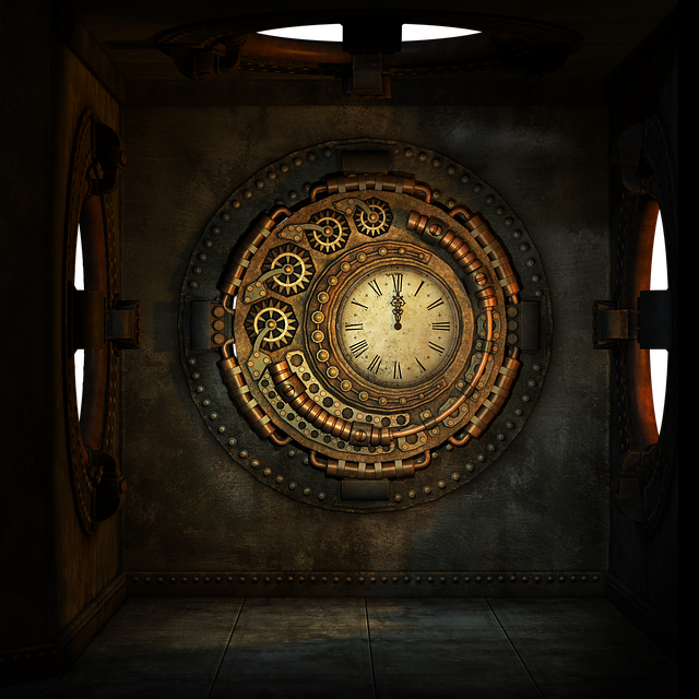 Free Illustration Steampunk Box Room Round Window