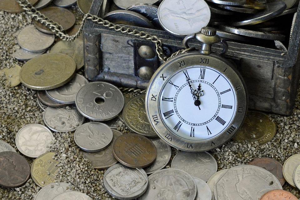 Reloj De Bolsillo, Momento De La, Arena, Tiempo, Reloj
