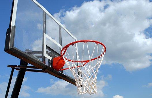 屋外バスケットボール, 縁, 純, スポーツ, バスケット ボール