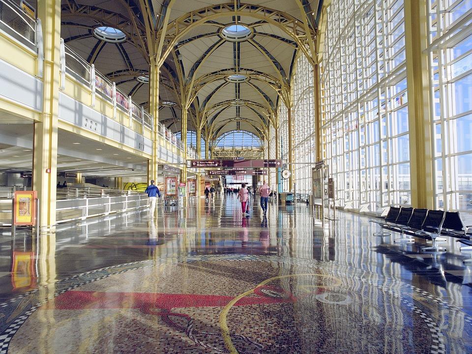 机场, 飞机, 旅行, 终端, 罗纳德 · 里根 Nationaflughafen, 亚历山德里亚