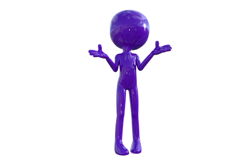 Why, What, Question, Ask, Purple Man, 3D