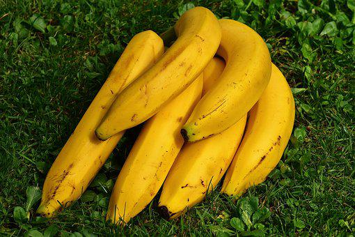 Bananas, Fruits, Fruit, Healthy, Yellow