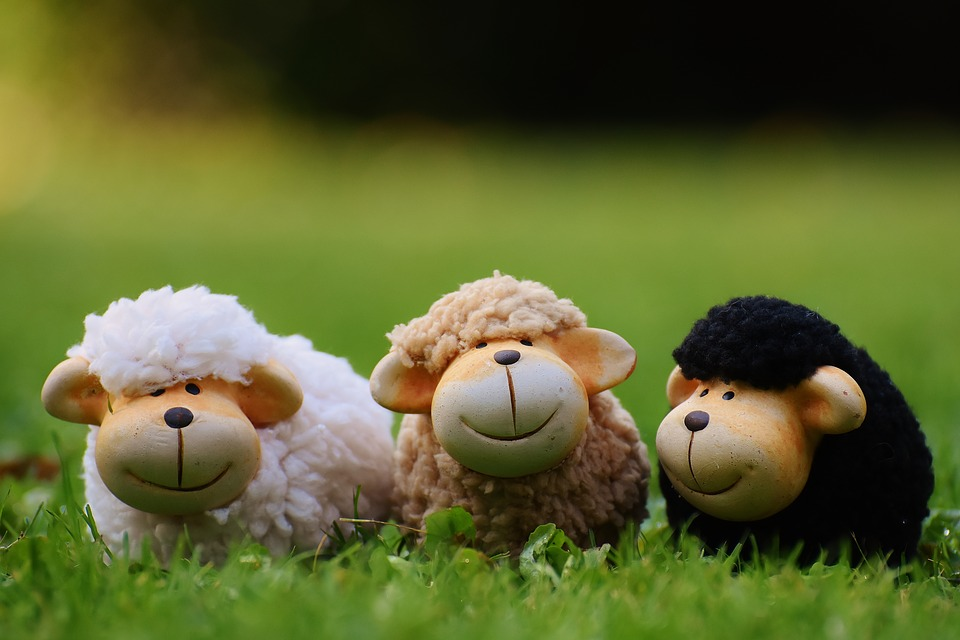 Schafe, Wiese, Tiere, Deko, Schafherde, Keramik