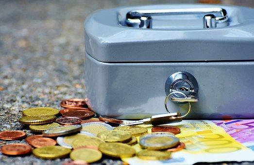 Geldkassette, Geld, Währung, Geldkasse