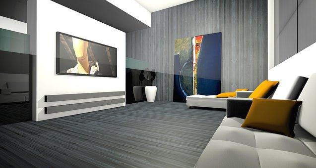 Living Room, Apartment, Graphic