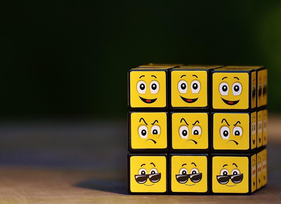Cubo, Smilies, Vários, Engraçado, Sentimentos, Emoticon