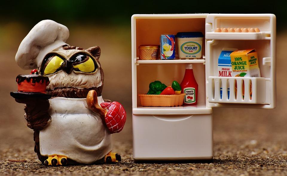 Owl, Bake, Cook, Refrigerator, Figure, Cute, Funny