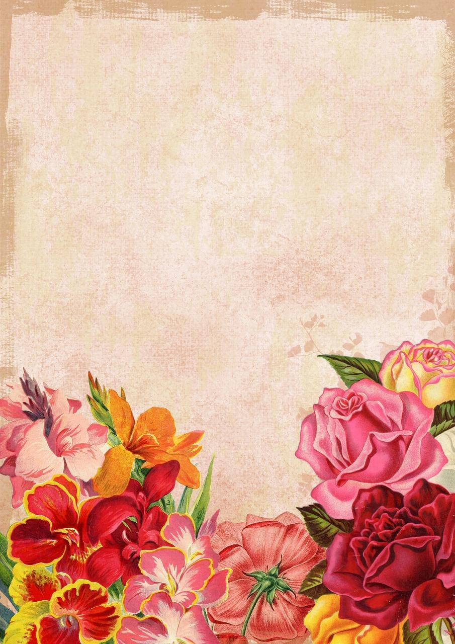Оформление новому, цветы шаблон открытки