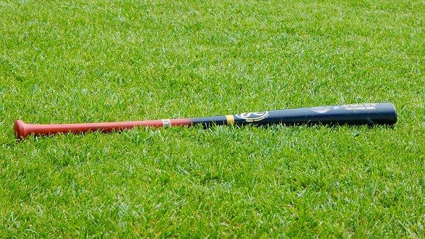 棒球, 棒球棍, 体育, 普拉托, 草, 绿色, 性质, 游戏, 活动