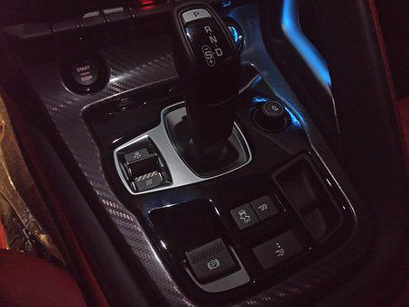 Image showing the automatic gear shift system of a car