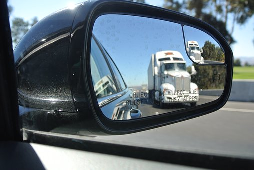 Rear View Mirror, Driving, Truck