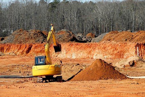 Construction Site, Heavy Equipment