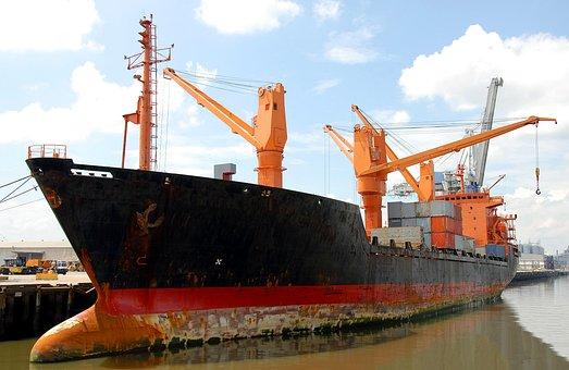 Cargo Ship, Freighter, Ship, Moored