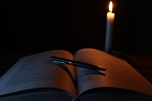 キャンドル, 本, 古い, 光, ライブラリ, 古い本, 魔法の本, 魔法の