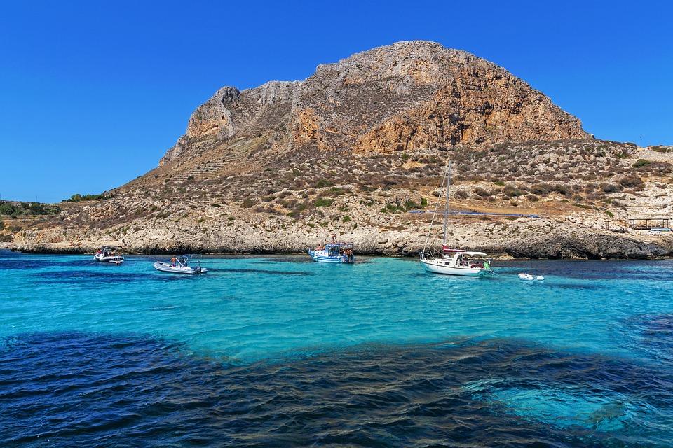 Sicilia, Favignana, Isola, Mare