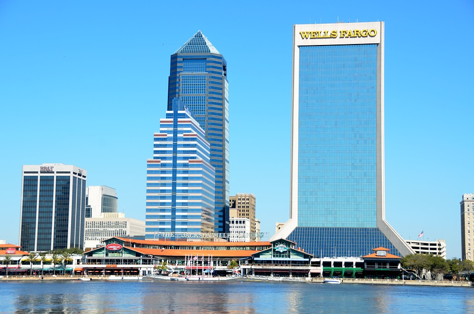 Jacksonville skyline in daytime