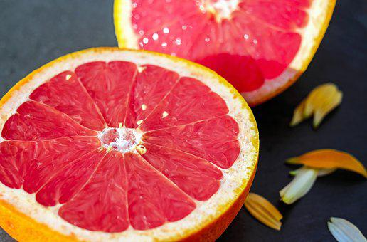 Grapefruit Fruit Red Sweet Vitamins Eat Gr