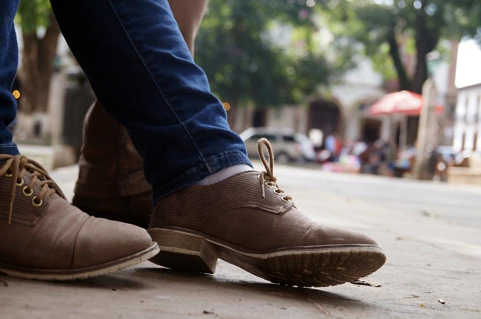 靴, ジーンズ, 通り, 場所, 床, 服, 市, スタイル, 足, 若いです, ファッション