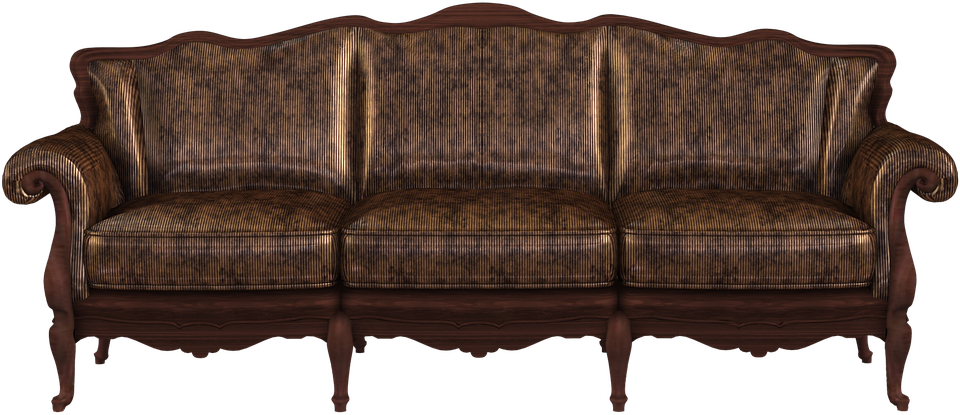 Sofa, Couch, Render, Old, Antique