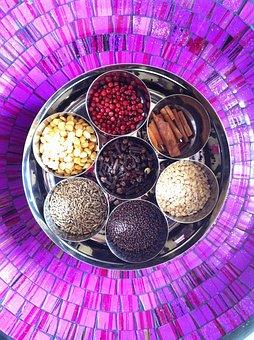 Masala, Spices, Box, Kitchen, Ayurveda