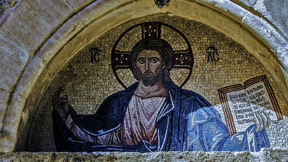 Υπέρθυρο Ιησούς Χριστός Ψηφιδωτό - Δωρεάν φωτογραφία στο Pixabay