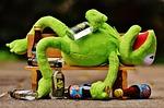 frog, drink