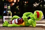 frog, wine