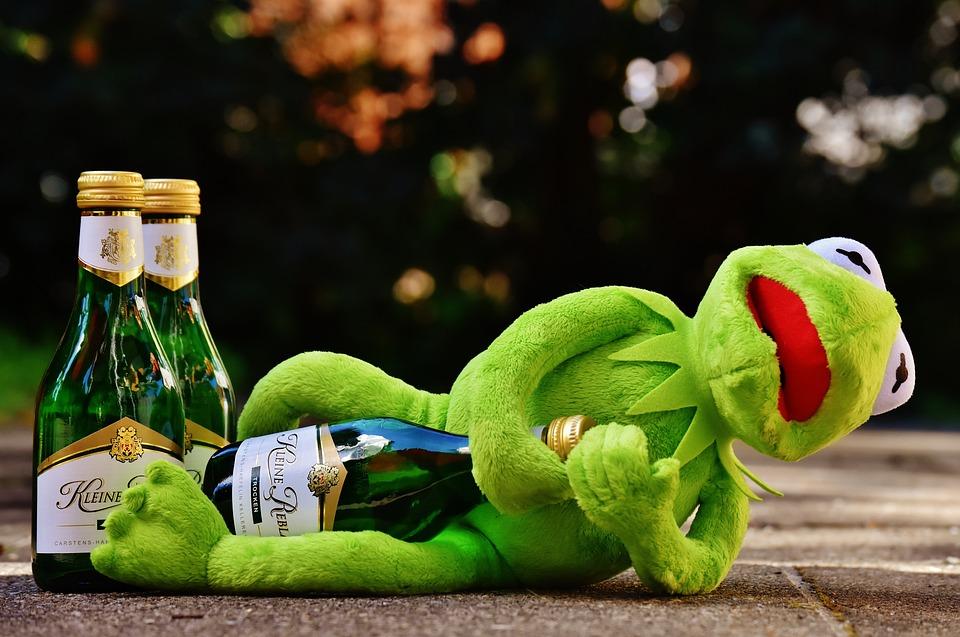 Kermit Frog Wine · Free photo on PixabayKermit Drinking Photo