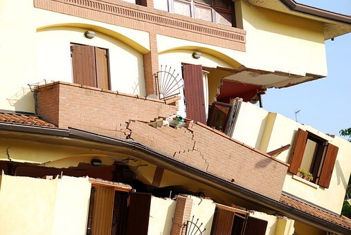 Earthquake, Collapse, House, Rubble